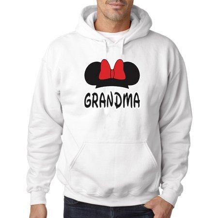 557 - Hoodie Grandma Fan Minnie Mouse Ears Bow Family Sweatshirt