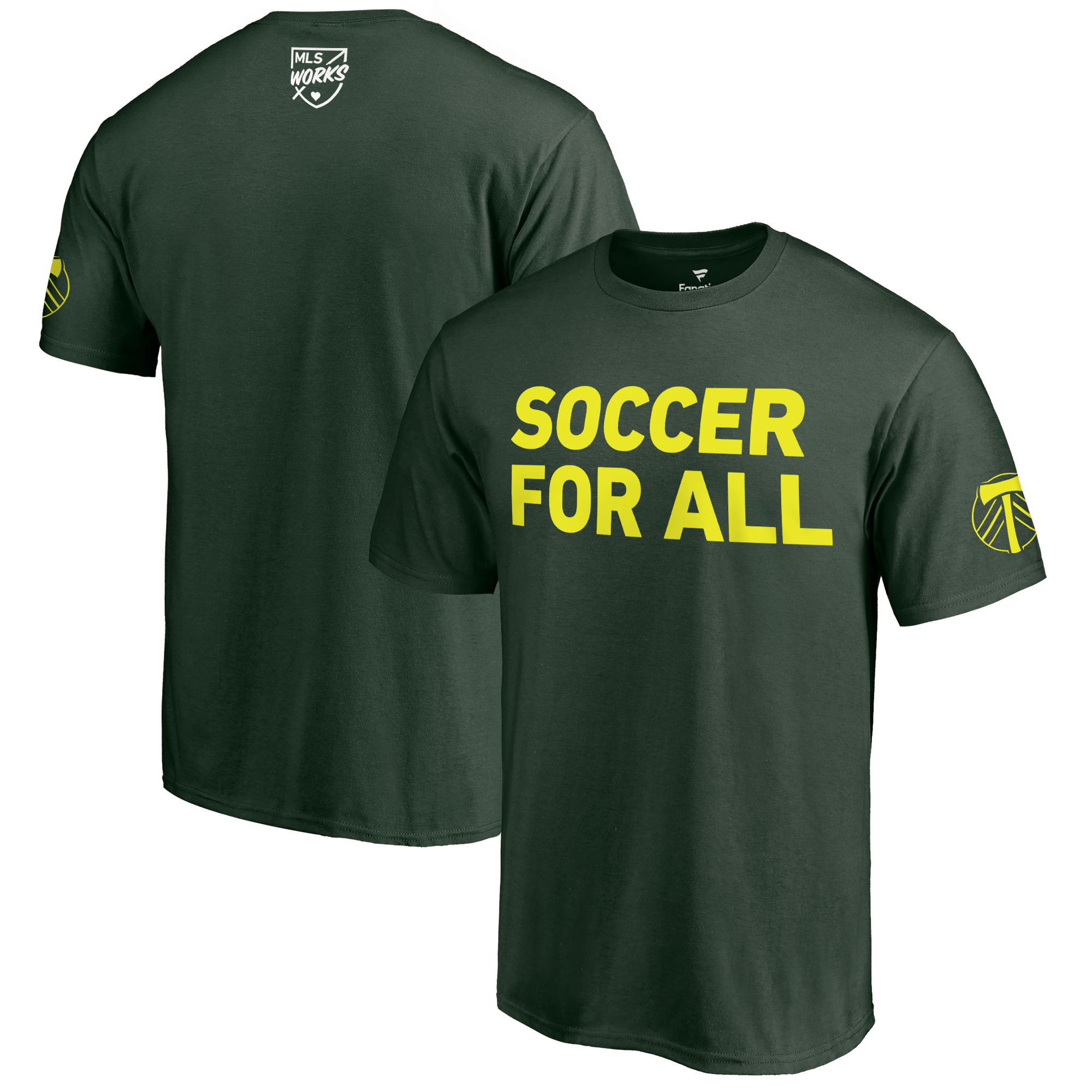 Portland Timbers Fanatics Branded 2018 Soccer For All T-Shirt - Green