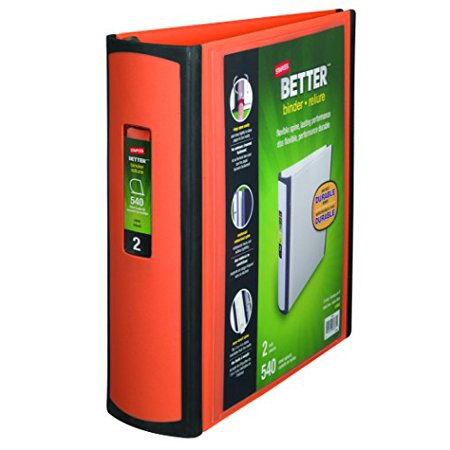 staples better binder 2 inch orange walmart com