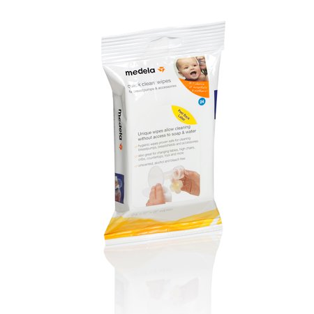 Medela Quick Clean Breastpump And Accessory Wipes  24 Ct