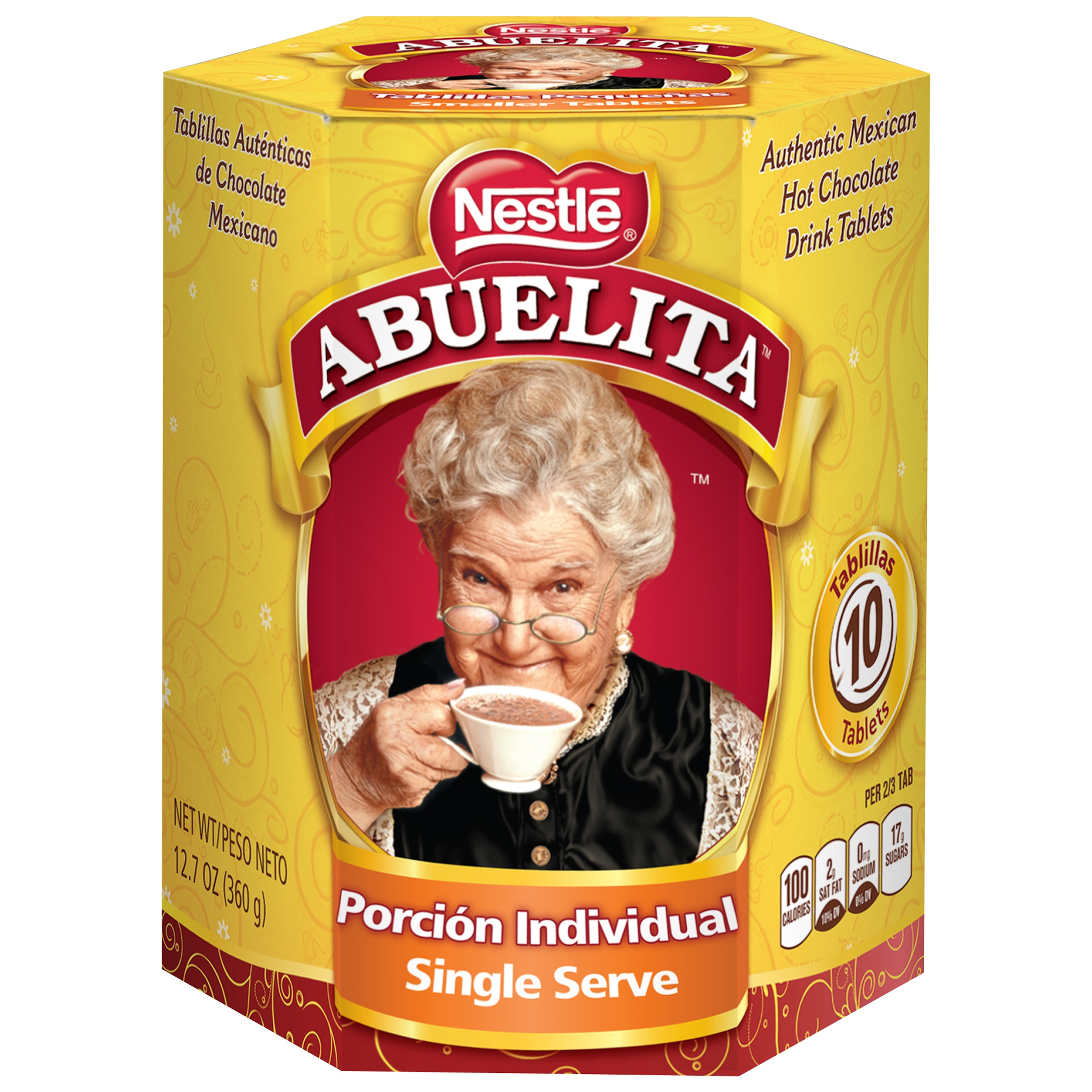 Image of Nestle ABUELITA Authentic Mexican Hot Chocolate Single Serve Drink Tablets 12.7 oz. Box