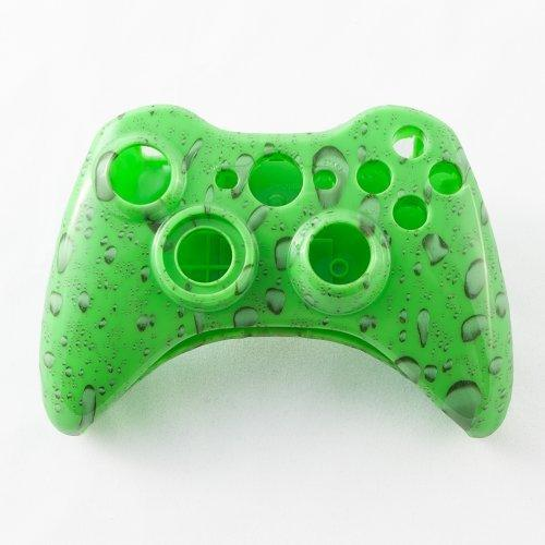 Green Water Drop Custom Controller Shell for XBOX 360