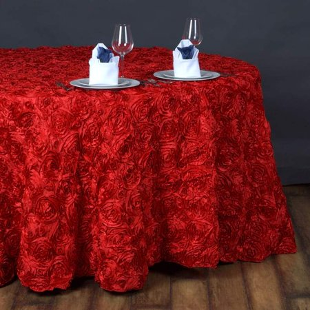 Efavormart Rosette/ Rose Pattern Round Tablecloths 132