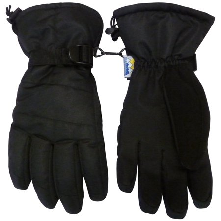 NICE CAPS Mens Adults Thinsulate Waterproof High Performance Winter Snow Ski Skiing Gloves - For Cold Weather