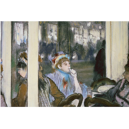 "Trademark Fine Art ""Women on a Cafe Terrace 1877"" Canvas Art by Edgar Degas"