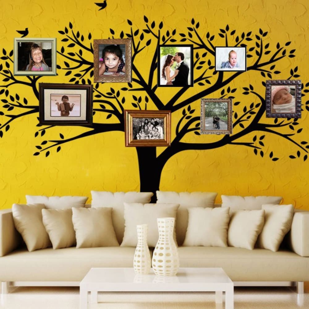 Snake River Decor Giant Family Photo Tree Wall Decals - Walmart.com
