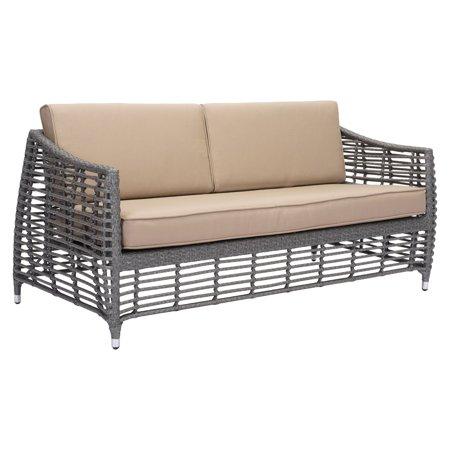 Astounding Zuo Modern Trek Beach Aluminum Patio Sofa Dailytribune Chair Design For Home Dailytribuneorg