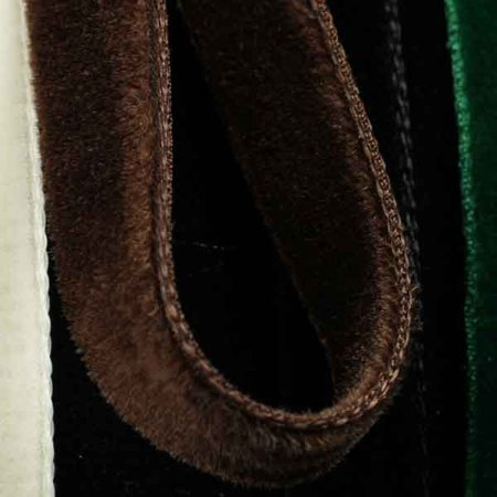 Chocolate Brown Double Velvet Craft Ribbon 9.5mm x 8 Yards