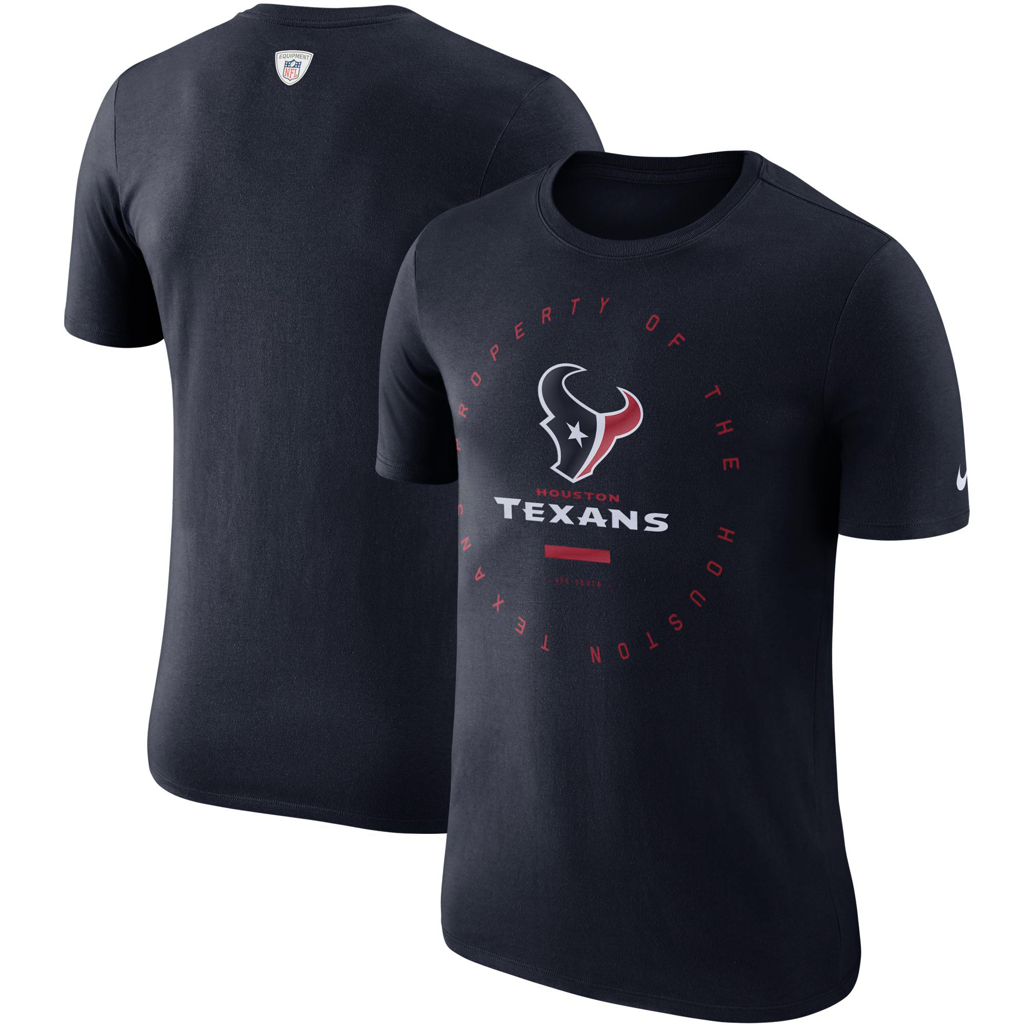 Houston Texans Nike Sideline Property Of Performance T-Shirt - Navy