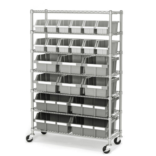 Seville Classics Commercial 7-Shelf 22-Bin Rack, SHE16511