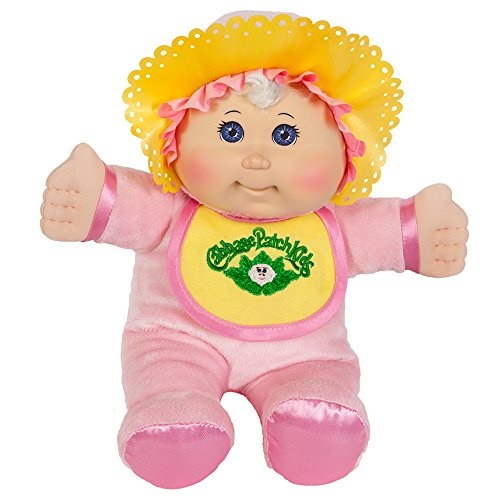 Cabbage Patch Kids 11 Inch Pink Retro Baby Doll Caucasian Girl, Blonde Hair, Blue Eyes by