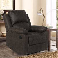 Deals on Lifestyle Solutions Reynolds Manual Recliner Faux Suede
