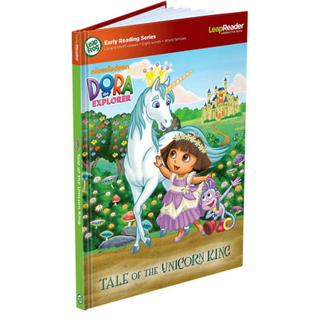 LeapFrog LeapReader Early Reading Book Nickelodeon Dora The Explorer Tale Of Unicorn King