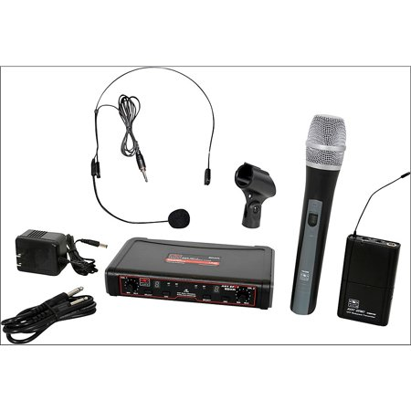 Galaxy Audio EDXR/HHBPS Dual Channel Wireless System, Code N 518-535 MHz w/ Handheld & Headset Mics