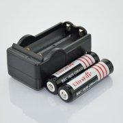 2Pcs 3.7V 18650 4200mAh Rechargeable Lithium Battery + 1pcs 18650 battery Charger