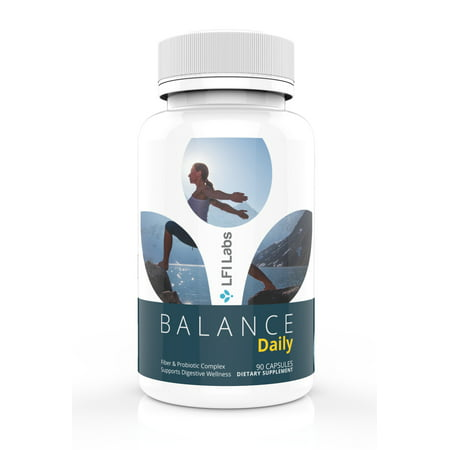 Prebiotic Fiber & Probiotic for Maintenance Cleanse, Detox, and Gut Health: Eliminate Toxins, Manage Weight | LFI BALANCE Daily Cleanse 90
