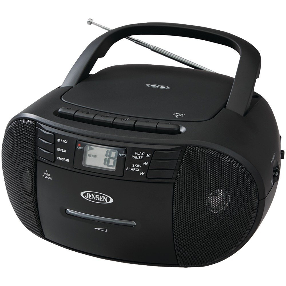 JENSEN CD-545 Portable Stereo CD Player with Cassette Recorder & AM/FM Radio electronic consumer