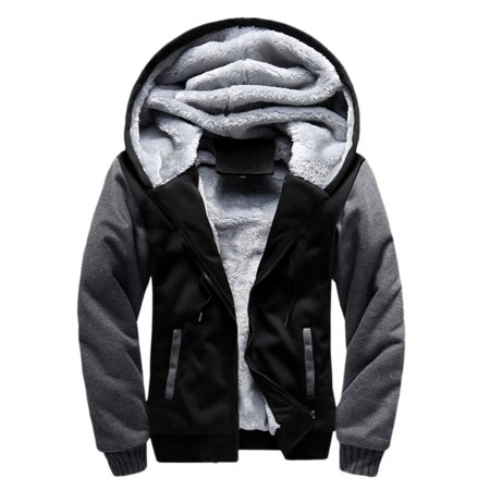 Men's Winter Padded Hooded Outwear Male Coat Clothes Anti Wind