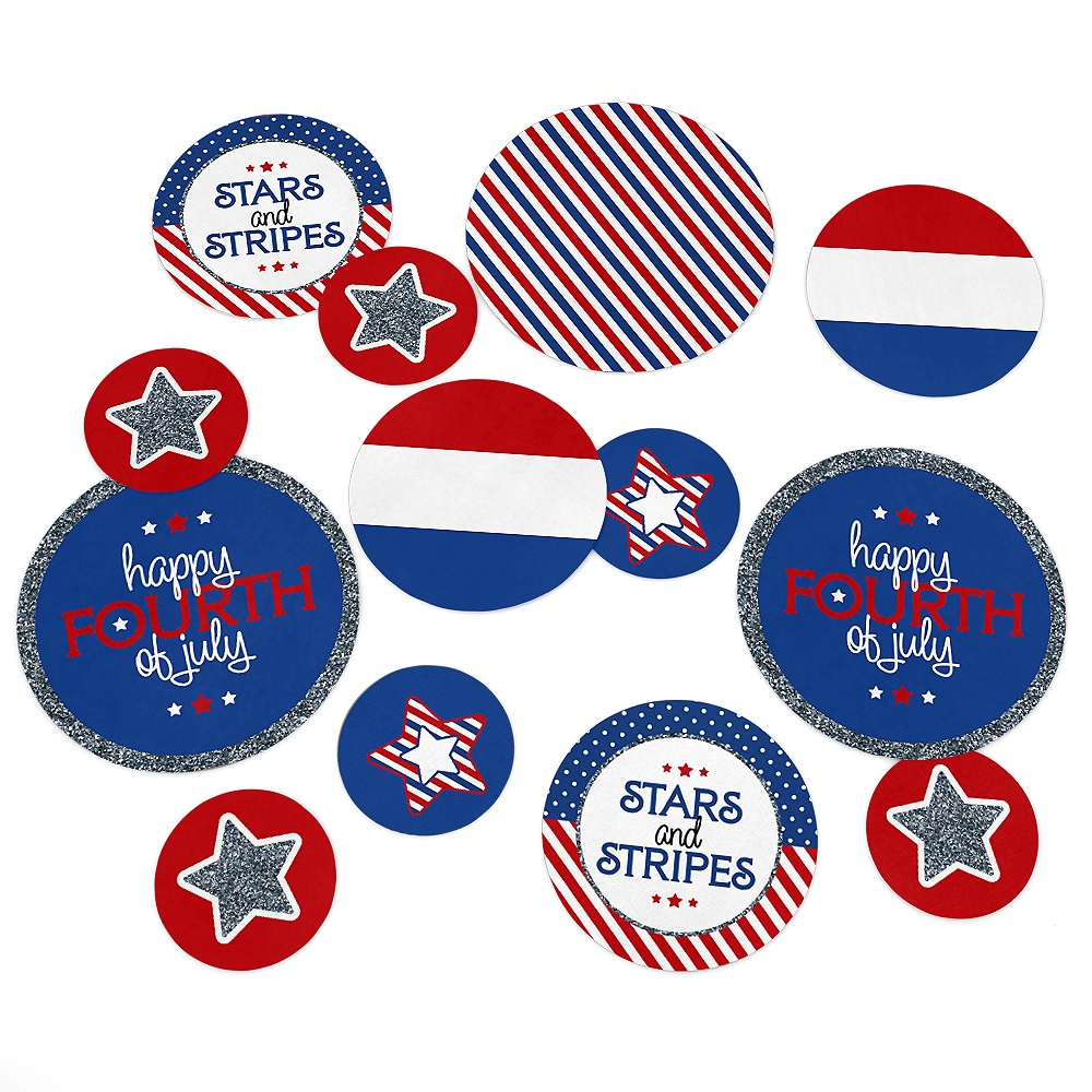 4th of July - Independence Day Table Confetti Set - 27 Count