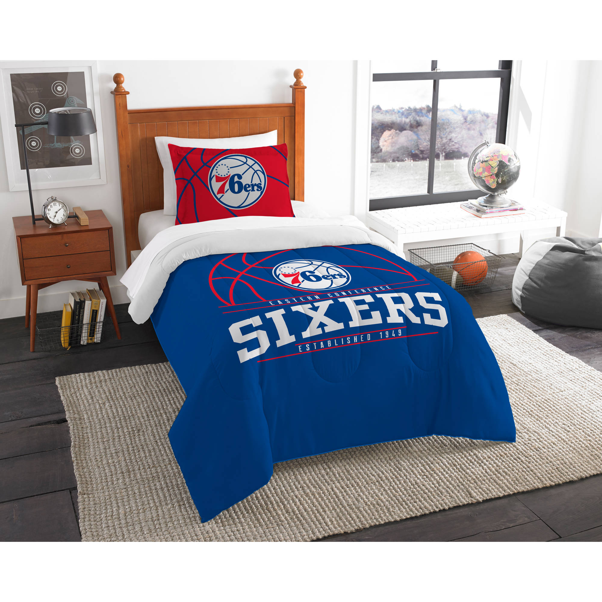 "NBA Philadelphia 76ers ""Reverse Slam"" Bedding Comforter Set"