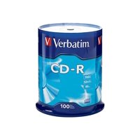 Verbatim CD-R 700MB 80 Minute 52x Recordable Blank Disc 100 Pack Spindle