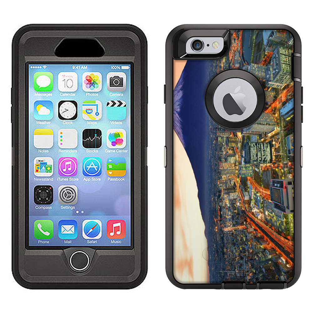 SKIN DECAL FOR Otterbox Defender Apple iPhone 6 Plus Case - Yokohama and Fuji DECAL, NOT A CASE