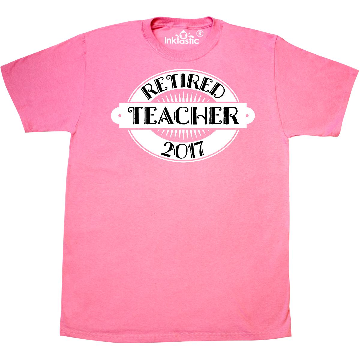 Inktastic 2017 Retired Teacher Retirement Gift T-Shirt Party School High Mens