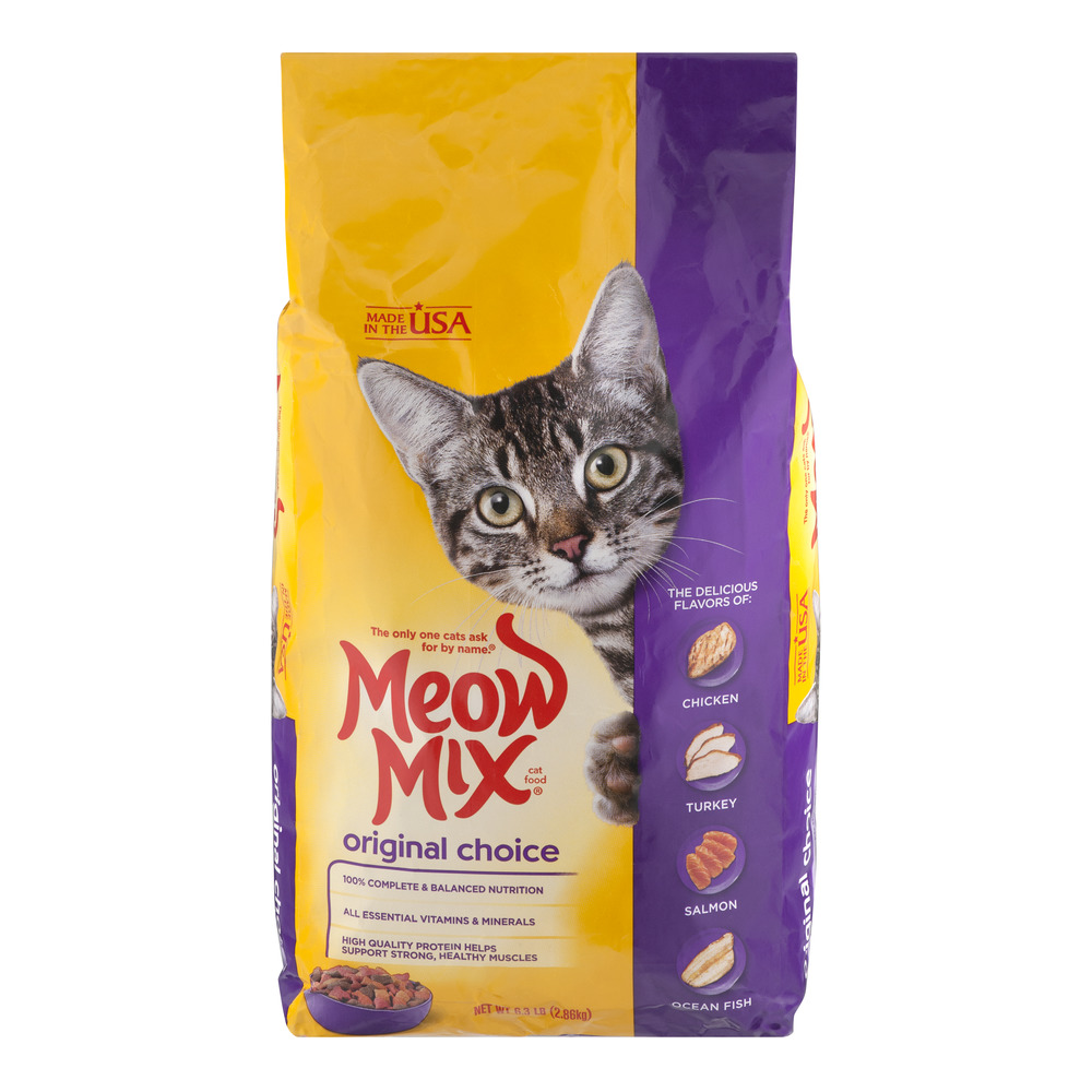 Meow Mix Cat Food Original Choice, 6.3 LB