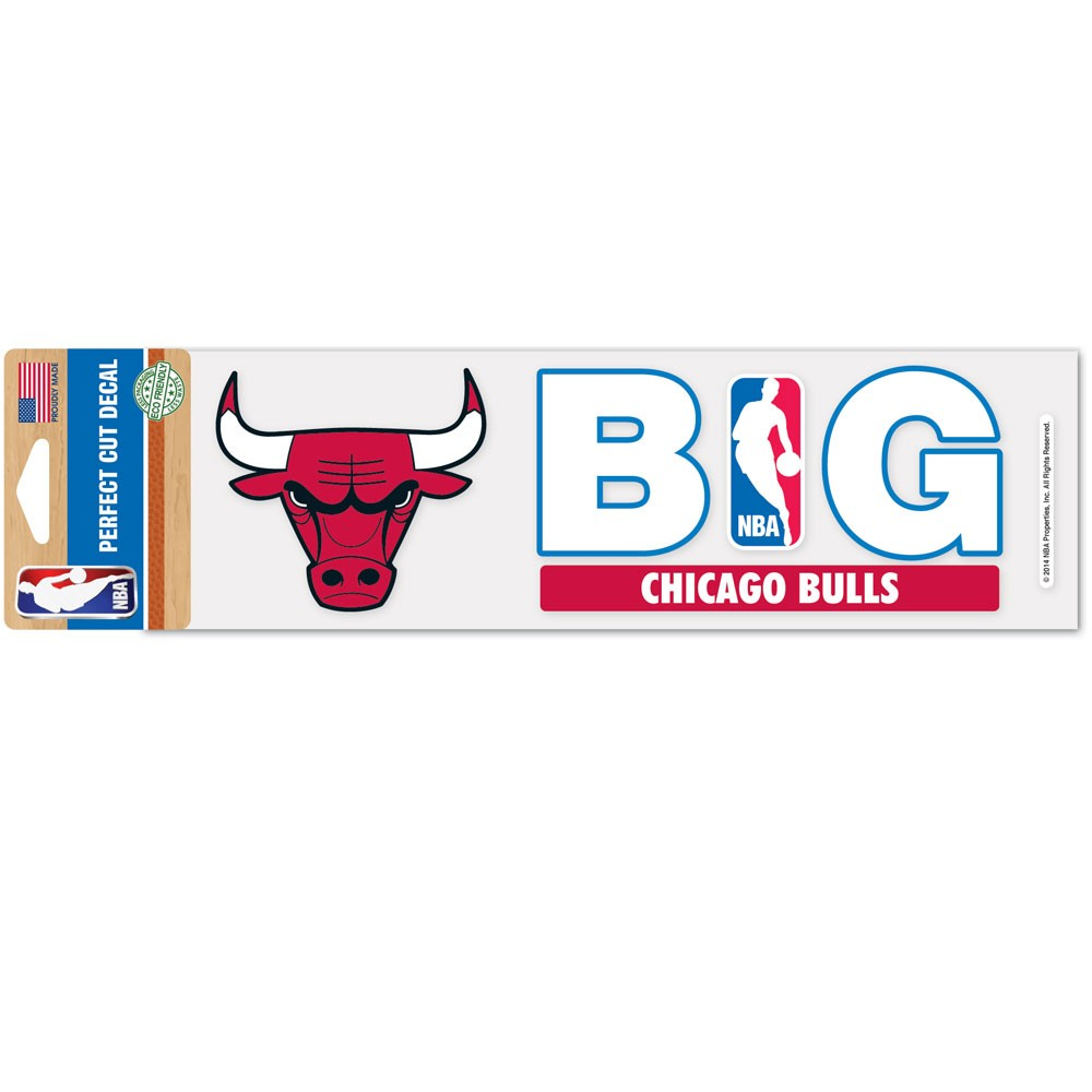 Chicago Bulls Official NBA 3 inch x 10 inch  Die Cut Car Decal by WinCraft