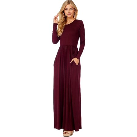 28d24e58643 Reborn J - Long Sleeve Fit and flare Maxi Dress