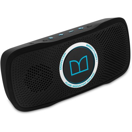 Monster SuperStar BackFloat High-Definition Bluetooth Speaker, Neon Blue
