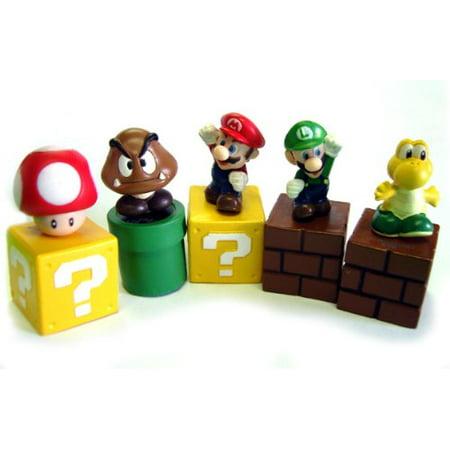 New Super Mario Bros Mini Figures Bundle A Set Of Five 1 Figures