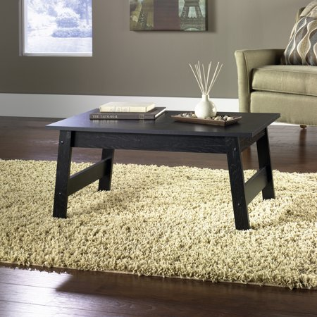 Mainstays Coffee Table Black Oak Finish Walmart Com