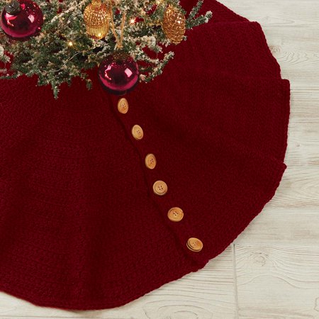 Country Tidings Tree Skirt Crochet Pattern ()