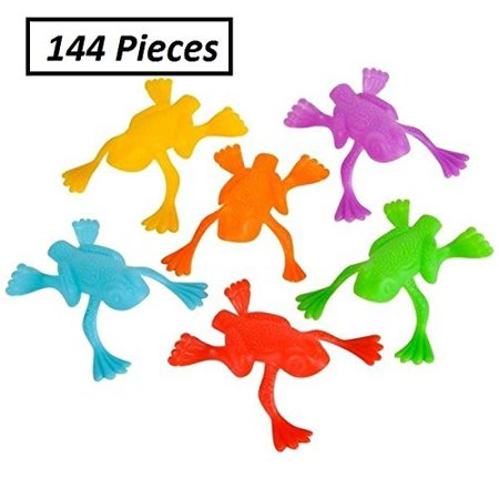 Jumping Leap Frog Toy - 144, 2 Inch Pack Assorted Colors, Plastic - For Kids, Playing, Parties, Gifts, Party Favors, Easter, Birthdays, & School - Kidsco