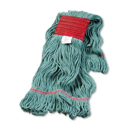 Boardwalk Super Loop Wet Mop Head, Cotton/Synthetic, Large Size, Green -BWK503GNEA