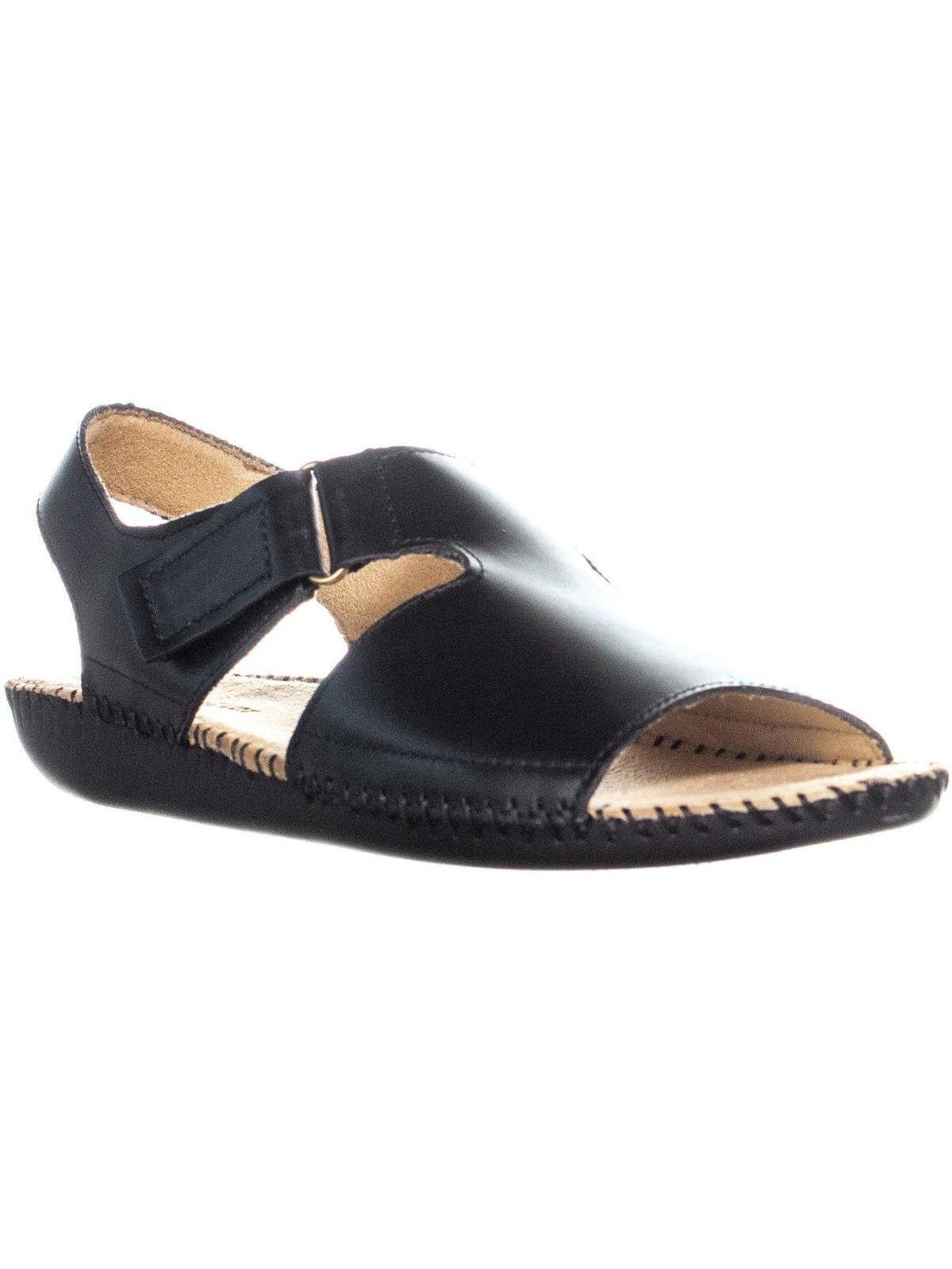 Womens Naturalizer Scout Wedge Heel Sandals, Black Leather by Naturalizer