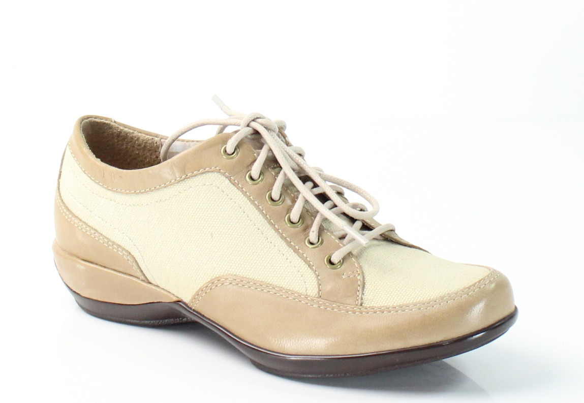 Aetrex New Beige Lauren Size 5M Lace Oxfords Leather Shoes by Aetrex