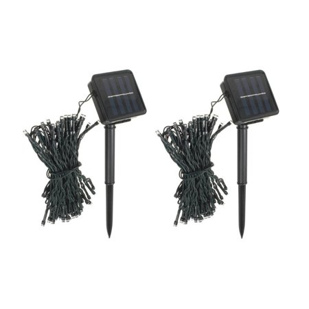 Pack of 2 100 LED Blue Outdoor Solar String lights for Garden Wedding Party Lamps
