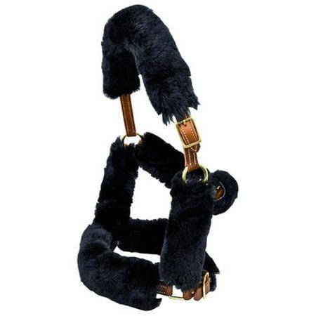 9-Piece Merino Sheepskin Halter Set - Black