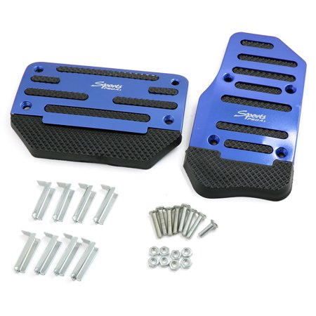 2 in 1 Blue Auto Car Manual Transmission Accelerator Clutch Brake Foot Pedal (Brake Gas Pedal)