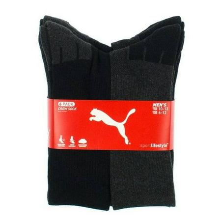 c417295162f7 Puma - Men s Puma Sport Crew Socks-6 Pairs (Black   Dark Gray) - Walmart.com