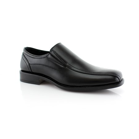 Eddie Monster (Delli Aldo Eddie M18528PL Black Men's Slip-on Leather Lining Traditional Design With Dual Elastic Panels Dress Shoes For Everyday)