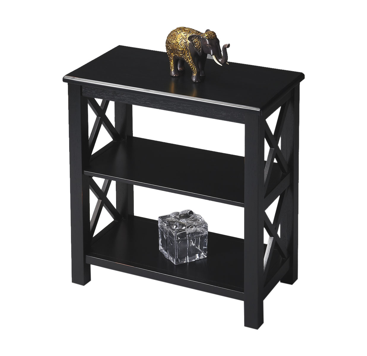 Offex Transitional Rectangular Bookcase - Black Licorice Finish