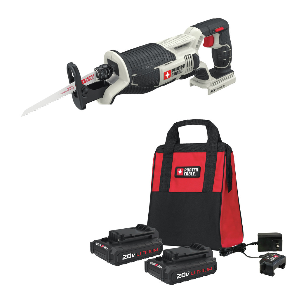 Porter-Cable PCC670B-888LBBNDL 20V MAX Cordless Lithium-Ion Reciprocating Saw Kit by