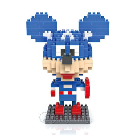 Diamond Mickey Mouse - Nano Blocks Loz Diamond Block Children Kids Toys Gift Captain Mickey Mouse