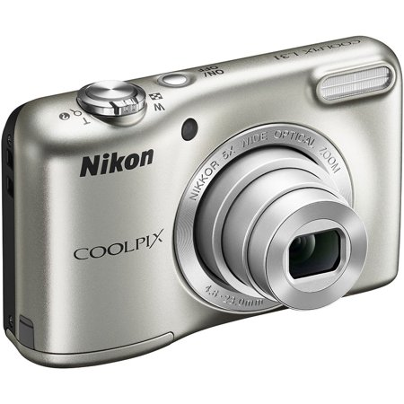 Nikon COOLPIX L31 16.1MP Compact Digital Camera 5x Optical Zoom and 2.7-inch Lens (Silver)(Certified Refurbished) ()