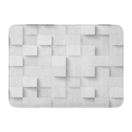 GODPOK Volume Gray Floor Three Dimensional Cubes Abstract Mosaic White Colors Squares Dimension Clear Rug Doormat Bath Mat 23.6x15.7 inch