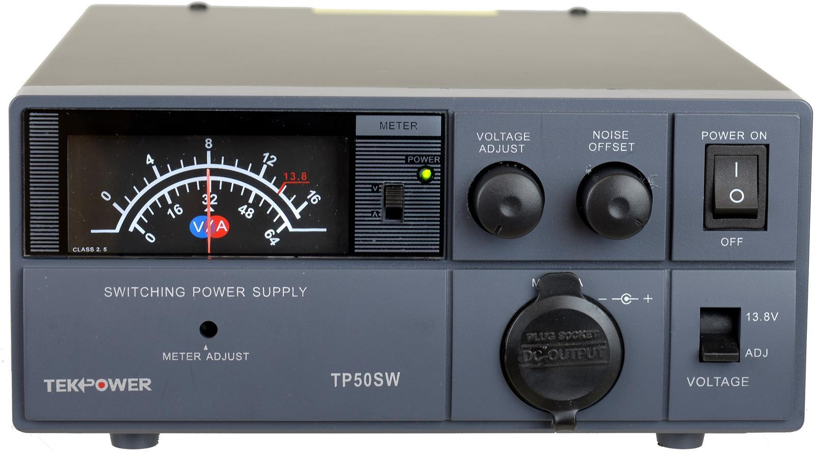 TekPower TP50SW 50 Amp 13.8V Analog DC Power Supply with Cigarette Plug by TekPower