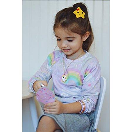 California Tot Felt Hair Snap, Non-Slip Hair Clips for Toddler, Girls (Whimsy Snap) - image 3 of 3